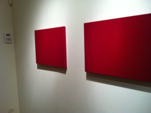 This is a piece from the Minimalism exhibit at the Woman Made Gallery. By: Laura Jo Clanton